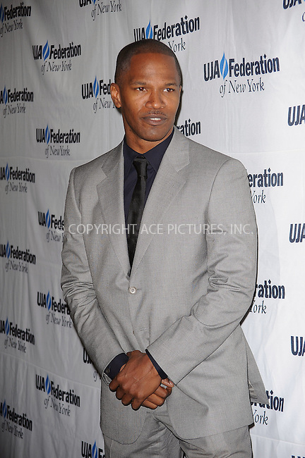 WWW.ACEPIXS.COM . . . . . ....June 18 2009, New York City....Actor Jamie Foxx attending the 2009 UJA-Federation of New York Music Visionary Of The Year award luncheon at The Pierre Hotel on June 18, 2009 in New York....Please byline: KRISTIN CALLAHAN - ACEPIXS.COM.. . . . . . ..Ace Pictures, Inc:  ..tel: (212) 243 8787 or (646) 769 0430..e-mail: info@acepixs.com..web: http://www.acepixs.com