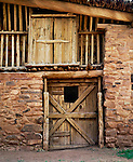 Barn doors, Hubbell Trading Post National Historic Site, Arizona