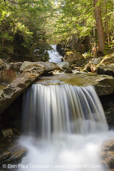Cold Brook Falls in Randolph, New Hampshire during the spring months. These falls are located along Cold Brook.