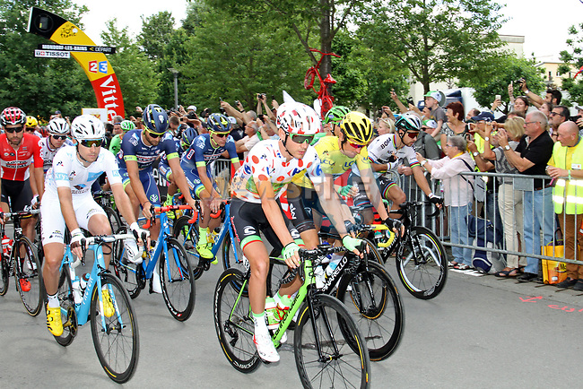 The start of Stage 4 of the 104th edition of the Tour de France 2017, running 207.5km from Mondorf-les-Bains, Luxembourg to Vittel, France. 4th July 2017.<br /> Picture: ASO/Alex Broadway | Cyclefile<br /> <br /> <br /> All photos usage must carry mandatory copyright credit (&copy; Cyclefile | ASO/Alex Broadway)