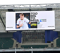 Twickenham, England. England Rugby 2015, Organising Committee for Rugby World Cup 2015, is hosting the world record attempt with over 1000 people (current record 946). The scrum will be made up of fans, representatives of each RWC 2015 match venue and host city, current players, ex-players and stakeholders. IRB referee Wayne Barnes will officiate the scrum attempt at Twickenham Stadium, London, England on September 12, 2014