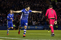 Sheffield Wednesday v Huddersfield Town, 14.1.2017<br /> <br /> EFL Sky Bet Championship<br /> Picture Shaun Flannery/Trevor Smith Photography<br /> <br /> Wednesday's Fernando Forestieri celebrates his goal.