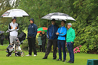 Daniel & TJ Ford (Co.Sligo) with Joe Lyons & Ronan Mullarney (Galway) on the 9th tee during the Final of the Barton Shield in the AIG Cups & Shields Connacht Finals 2019 in Westport Golf Club, Westport, Co. Mayo on Saturday 10th August 2019.<br /> <br /> Picture:  Thos Caffrey / www.golffile.ie<br /> <br /> All photos usage must carry mandatory copyright credit (© Golffile | Thos Caffrey)