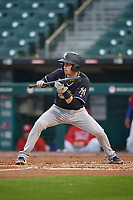 Scranton/Wilkes-Barre RailRiders Tyler Wade (9) squares to bunt during an International League game against the Buffalo Bisons on June 5, 2019 at Sahlen Field in Buffalo, New York.  Scranton defeated Buffalo 4-0, the second game of a doubleheader.  (Mike Janes/Four Seam Images)