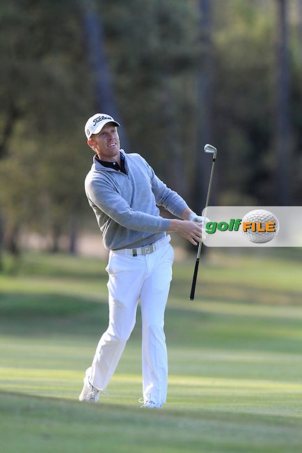 Andrew Dodt (ENG) on the 7th during Round 3 of the Open de Espana  in Club de Golf el Prat, Barcelona on Saturday 16th May 2015.<br /> Picture:  Thos Caffrey / www.golffile.ie