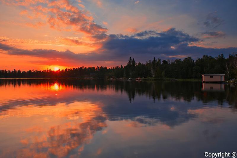 Sunrise on Star Lake<br />Whiteshell Provincial Park<br />Manitoba<br />Canada