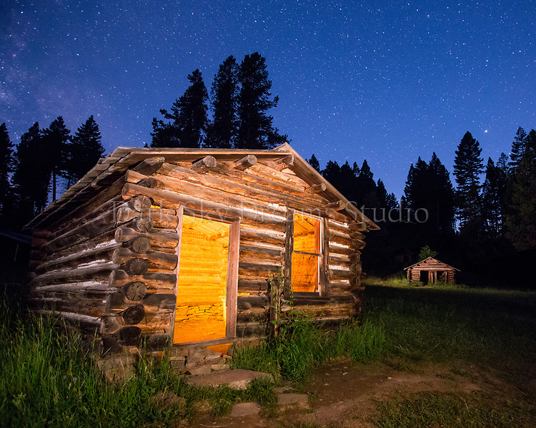 Post Office at Night - Garnet Ghost Town, MT
