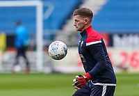 Bolton Wanderers' Ben Williams warming up before the match <br /> <br /> Photographer Andrew Kearns/CameraSport<br /> <br /> The EFL Sky Bet Championship - Wigan Athletic v Bolton Wanderers - Saturday 16th March 2019 - DW Stadium - Wigan<br /> <br /> World Copyright &copy; 2019 CameraSport. All rights reserved. 43 Linden Ave. Countesthorpe. Leicester. England. LE8 5PG - Tel: +44 (0) 116 277 4147 - admin@camerasport.com - www.camerasport.com