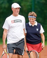 21-8-08, Netherlands, Utrecht, Nationale Veteranen Kampioenschappen, Dini Moos en haar mixed partner Jan Geenemans, 70+