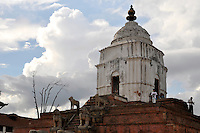 Art in architecture - a unique cultural monument in one of the heritage temple complexes on the outskirts of Kathmandu, Nepal