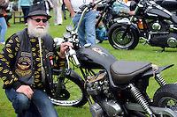 1-6-2014: Leo O'Mahony from Siubereen who won the 'Best Rat' in the Harley Davidson class at Ireland Bikefest in Killarney on Sunday.<br /> Photo: Don MacMonagle <br /> <br /> REPRO FREE PHOTO FROM IRELAND BIKEFEST