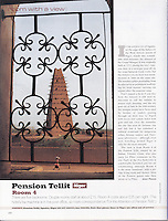Cond&eacute; Nast Traveler (U.K. edition), October 2000, &quot;Room with a View&quot; feature.  <br />