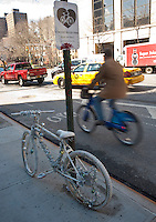 Monument in honor of a cyclist killed in New York City.