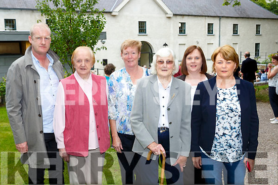 Teresa Hickey who used to work in Killarney House at the re-opening of the House and Gardens on Monday l-r: Ray Hickey, Margaret O'Donoghue, Noreen Healy, Teresa Hickey, Sheena O'Donoghue and Eileen O'Donoghue