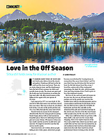 Sitka, Alaska in February 2019 issue of Alaska Magazine by photographer Blaine Harrington III.