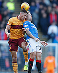 15.12.2019 Motherwell v Rangers: Scott Arfield clashed heads with Jake Carroll