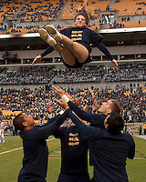 Pittsburgh cheerleader. The Pittsburgh Panthers defeated the South Florida Bulls 41-14 at Heinz Field, Pittsburgh, PA on October 24, 2009.