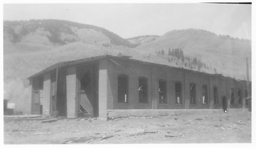 Southeast-corner view of the RGS Rico engine house.<br /> RGS  Rico, CO
