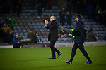 Home manager Sean Dyche applauding the fans as he leaves the pitch after Burnley hosted Everton in an English Premier League fixture at Turf Moor. Founded in 1882, Burnley played their first match at the ground on 17 February 1883 and it has been their home ever since. The visitors won the match 5-1, watched by a crowd of 21,484.