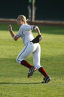 25 October 2007: Stanford Cardinal Michelle Schroeder during Stanford's 5-4 loss in seven innings against the San Jose State Spartans at Boyd & Jill Smith Family Stadium in Stanford, CA.