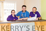 l-r  Sandra O'Connor, Assistant Youth Worker, William O'Carroll, Assistant Youth Worker and Tim Nolan, Community Youth Worker on site at the revamp of the KDYS Youth Centre in Castleisland.