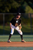 Ben Abernathy during the WWBA World Championship at the Roger Dean Complex on October 20, 2018 in Jupiter, Florida.  Ben Abernathy is a shortstop from Warrior, Alabama who attends Hayden High School and is committed to West Virginia.  (Mike Janes/Four Seam Images)