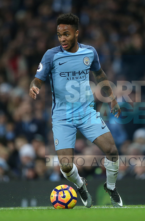 Raheem Sterling of Manchester City during the English Premier League match at the Etihad Stadium, Manchester. Picture date: December 18th, 2016. Picture credit should read: Simon Bellis/Sportimage
