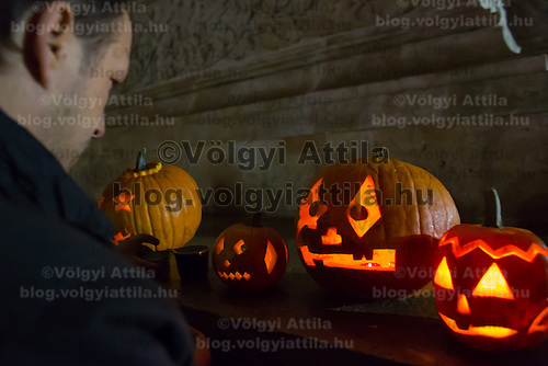 Halloween Festival in Budapest, Hungary on October 27, 2012. ATTILA VOLGYI