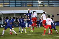 Marc Guehi of Chelsea heads the ball way during Chelsea Under-19 vs AS Monaco Under-19, UEFA Youth League Football at the Cobham Training Ground on 19th February 2019