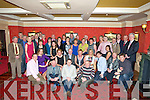 RETIRMENT: A retirement party was held in The Meadowlands Hotel, Tralee on Friday night for Michael O'Shea, Upper Oakpark, Tralee and Teresa Cotter Cork on their retirement from Tralee Court recently by their family and friends. (Michael is seated 3rd from left and Teresa is seatedf 4th from left)........... . ............................... ..........
