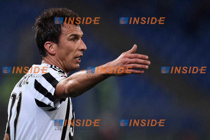 Mario Mandzukic Juventus <br /> Roma 04-12-2015 Stadio Olimpico Football Calcio 2015/2016 Serie A Lazio - Juventus Foto Andrea Staccioli / Insidefoto