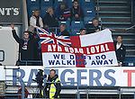 Rangers fans in the Club Deck and Ivan from Sky Sports dozing off
