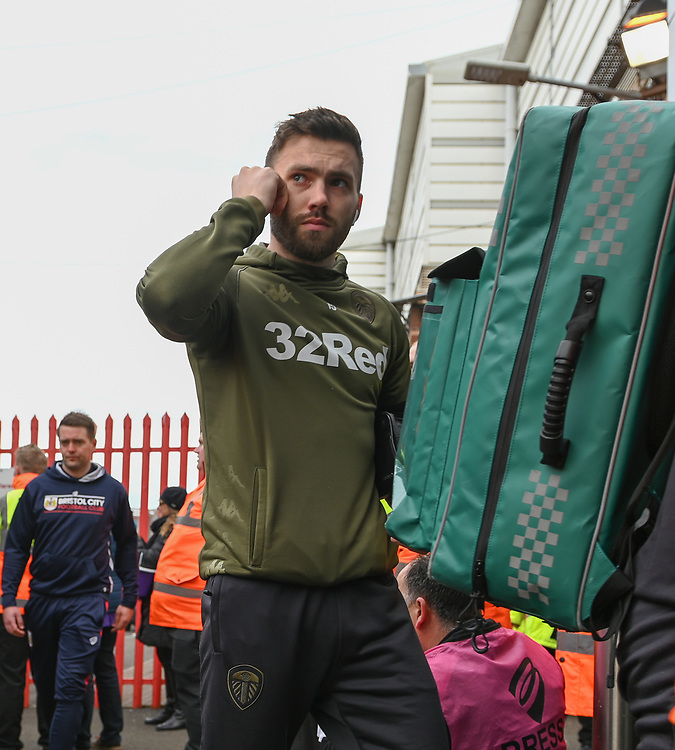 Leeds United's Stuart Dallas coming off the Team bus<br /> <br /> Photographer David Horton/CameraSport<br /> <br /> The EFL Sky Bet Championship - Bristol City v Leeds United - Saturday 9th March 2019 - Ashton Gate Stadium - Bristol<br /> <br /> World Copyright © 2019 CameraSport. All rights reserved. 43 Linden Ave. Countesthorpe. Leicester. England. LE8 5PG - Tel: +44 (0) 116 277 4147 - admin@camerasport.com - www.camerasport.com