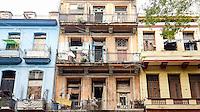 HAVANA-CUBA - 11.10.2016: Fachada de prédios residencias na região central de Havana.  (Foto: Bete Marques/Brazil Photo Press)