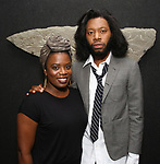 Antoinette Nwandu and  Jeremy O. Harris attends the Vineyard Theatre Paula Vogel Playwriting Award honoring Jeremy O. Harris on October 12, 2018 at the National Arts Club in New York City.