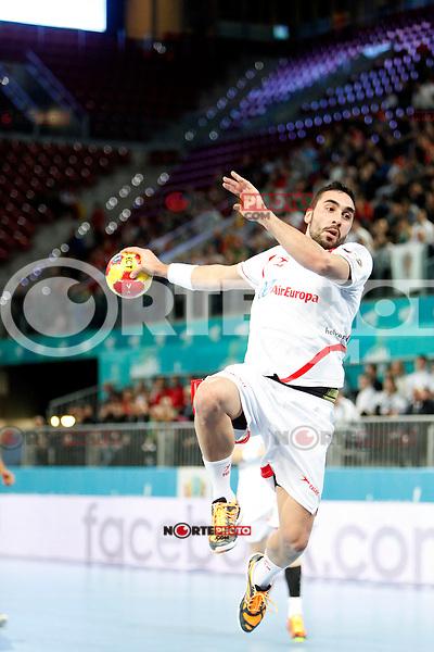 Spain and Egypt during 23rd Men's Handball World Championship preliminary round match, in the pic: Aitor Arino. January 14 ,2013. (ALTERPHOTOS/Caro Marin) /NortePhoto