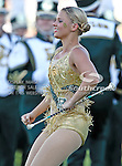 The Baylor Bears baton twirler in action during the game between the Rice Owls and the Baylor Bears at the Floyd Casey Stadium in Waco, Texas. Baylor defeats Rice 56 to 31..