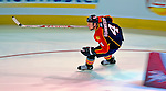 24 January 2009: Florida Panthers defenseman Jay Bouwmeester races the clock during the NHL Faster Skater Event, tying for third with a time of 14.59 seconds, in the NHL SuperSkills Competition, part of the All-Star Weekend at the Bell Centre in Montreal, Quebec, Canada. ***** Editorial Sales Only ***** Mandatory Photo Credit: Ed Wolfstein Photo