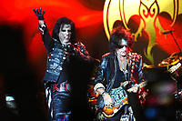 The Hollywood Vampires, Alice Cooper, Joe Perry<br /> performing at Olympic stadium. Moscow, Russia on May 28, 2018.<br /> **Not for sale in Russia or FSU**<br /> CAP/PER/EN<br /> &copy;EN/PER/Capital Picturess