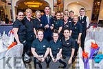 Ryan Tubridy with staff at the Ballygarry House Hotel & Spa, Tralee on Tuesday evening last.