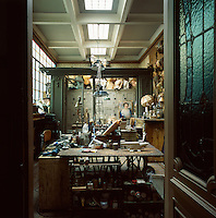 A view into Pascale Palun's workshop where she creates her many intriguing pieces of work.