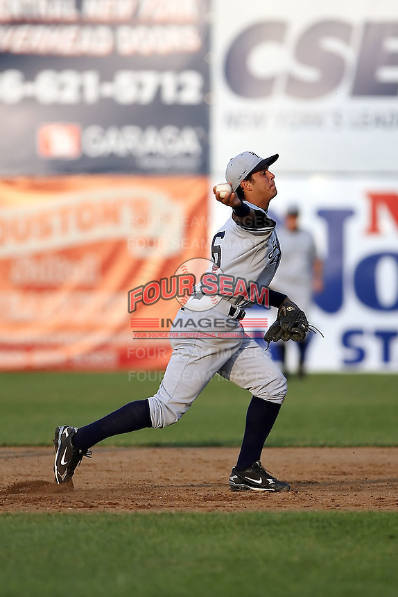 July 5th 2008:  Shortstop Walter Ibarra of the Staten Island Yankees, Class-A affiliate of the NY Yankees, during a game at Falcon Park in Auburn, NY.  Photo by:  Mike Janes/Four Seam Images