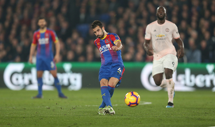 Crystal Palace's Luka Milivojevic<br /> <br /> Photographer Rob Newell/CameraSport<br /> <br /> The Premier League - Wednesday 27th February 2019  - Crystal Palace v Manchester United - Selhurst Park - London<br /> <br /> World Copyright © 2019 CameraSport. All rights reserved. 43 Linden Ave. Countesthorpe. Leicester. England. LE8 5PG - Tel: +44 (0) 116 277 4147 - admin@camerasport.com - www.camerasport.com