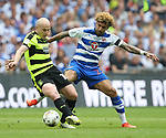 Huddersfield's Aaron Mooy tussles with Reading's Daniel Williams during the Championship Play-Off Final match at Wembley Stadium, London. Picture date: May 29th, 2017. Pic credit should read: David Klein/Sportimage