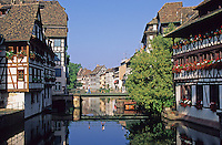 France,Alsace,Europe,Departement 67,Bas-Rhin,Strasbourg,Canal,Houses
