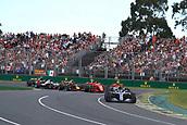 25th March 2018, Melbourne Grand Prix Circuit, Melbourne, Australia; Melbourne Formula One Grand Prix, race day; Mercedes AMG Petronas Motorsport AMG F1 Team; Lewis Hamilton leads race start