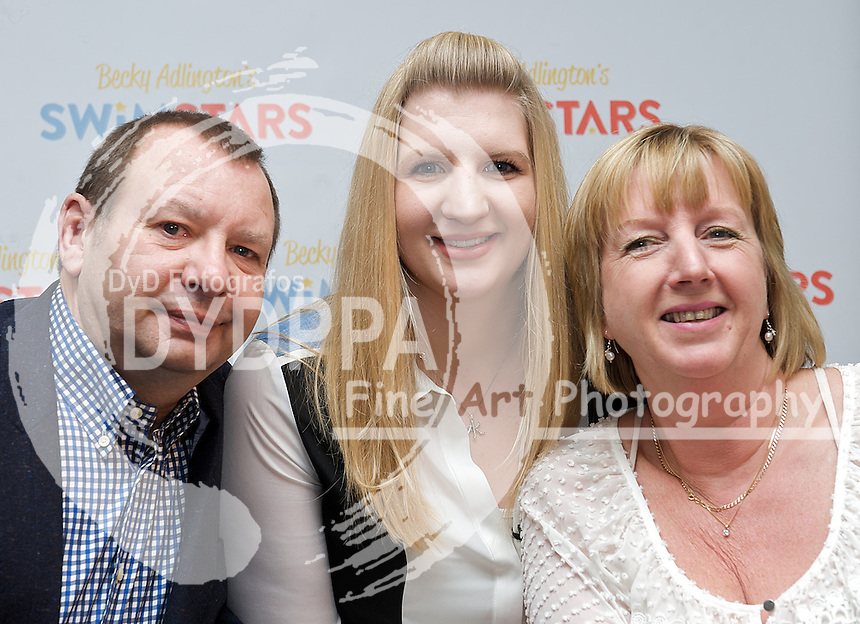 Rebecca Adlington, Press Conference, with parents Stephen & Kay, St James, London, Great Britain, February 5, 2013. Photo by Elliott Franks / i-Images/ DyD Fotografos