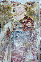 king Vladislav,founder of the Monastery,fresco,founder's composition,nave,northern wall,Milesheva  Monastery of Ascension of the Lord , 1234-1235