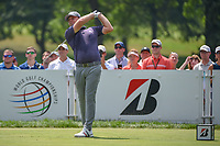 Tyrell Hatton (ENG) watches his tee shot on 3 during 4th round of the World Golf Championships - Bridgestone Invitational, at the Firestone Country Club, Akron, Ohio. 8/5/2018.<br /> Picture: Golffile | Ken Murray<br /> <br /> <br /> All photo usage must carry mandatory copyright credit (© Golffile | Ken Murray)