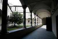 Il chiostro della chiesa di Sant'Agostino a Genova.<br /> The cloister of the church of Sant'Agostino in Genoa.<br /> UPDATE IMAGES PRESS/Riccardo De Luca